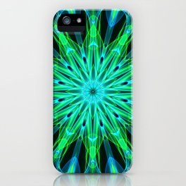 Mandala - Green Implosion iPhone Case