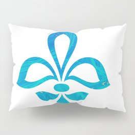 Blue Fleur De Lis Abstract Pillow Sham