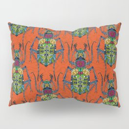 flower beetle orange Pillow Sham