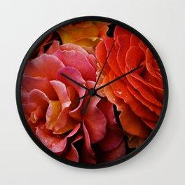 Spanish Dancer Roses Wall Clock