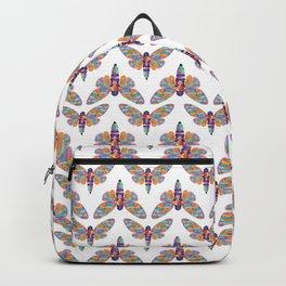 Watercolor Rainbow Cicada Vector Backpack