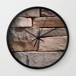 Artisan Masonry Stone House Front Detail 001 Wall Clock