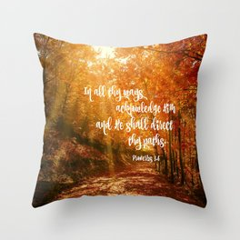 He Will Direct Your Path Bible Verse Throw Pillow