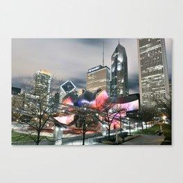 Jay Pritzker Pavilion at Night Canvas Print