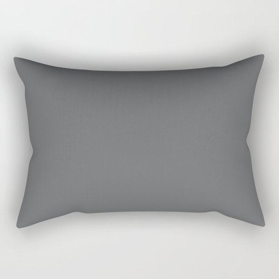 Simply Storm Gray Rectangular Pillow