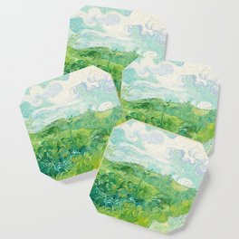 Green Wheat Fields - Auvers, by Vincent van Gogh Coaster