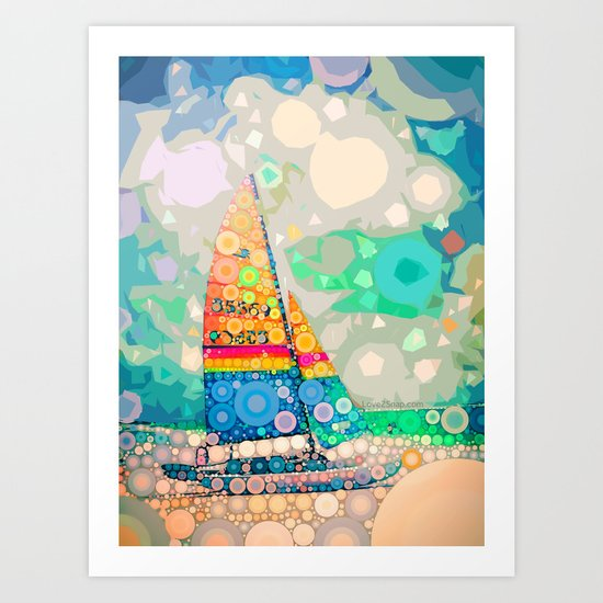 Siesta Key, FL - Sailing Art Print