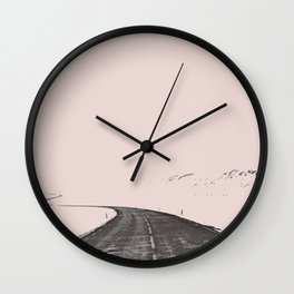 The road less travel Wall Clock