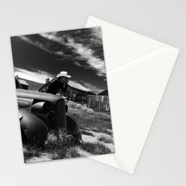 Ghost town car Stationery Cards