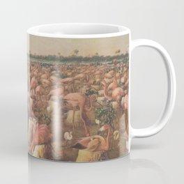 Vintage Pink Flamingos Illustration (1919) Coffee Mug