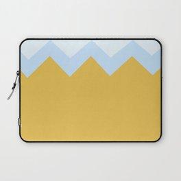 Geometric abstract - zigzag, orange and blue. Laptop Sleeve
