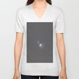 Orion Running Man flame and Horsehead Nebula's Unisex V-Neck