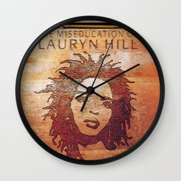 Vectorized Illustration Art Design The Big Miseducation of Her Vectored,Hill-43400 by Hand Illustrated,Lauryn-1998 August 25 Design Wall Clock