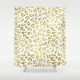 Glam Gold Cheetah Animal Print Shower Curtain