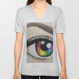 Rainbow eye Unisex V-Neck