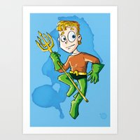 aquaman Art Prints featuring Aquaman! by neicosta