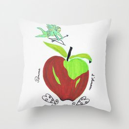 Apple of love ( pomme d'amour) Throw Pillow