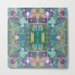 Blue Purple Green Acrylic Mirror Pattern Metal Print