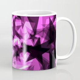 Dark purple cosmic stars with glow in the distance from the foil in perspective. Coffee Mug