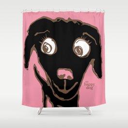 Thale - black/ink Shower Curtain