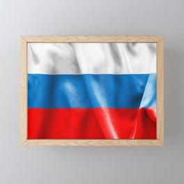 Russian Federation Flag Framed Mini Art Print