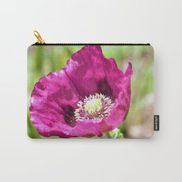 Purple Poppy by Reay of Light Photography Carry-All Pouch