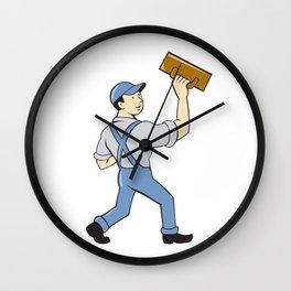 Plasterer Masonry Trowel Cartoon Wall Clock