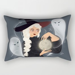 Moon Thief Witch Rectangular Pillow