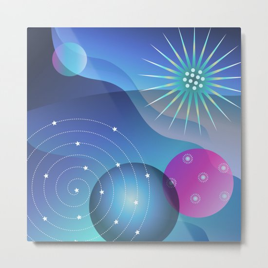 Planetary Party Metal Print