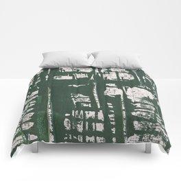 NYC Walls (zelen) Comforters
