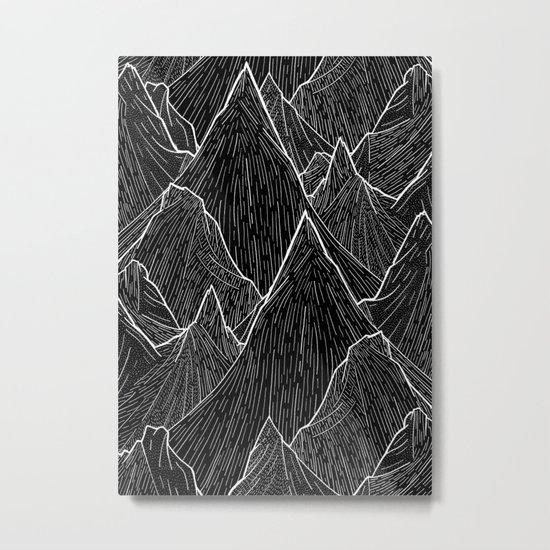 The Dark Peaks Metal Print
