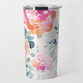 Floral Soft Pink Watercolor phone case Travel Mug