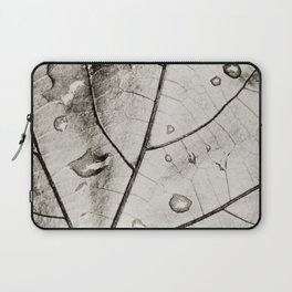 Abstract of a Leaf in Black and White Laptop Sleeve