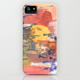 paisaje abstracto iPhone Case