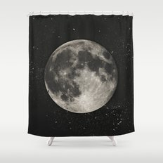 The Moon  [Sans Type] Shower Curtain
