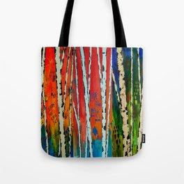 Birch Tree Stitch Tote Bag
