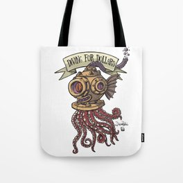 Octopus Diver Tote Bag