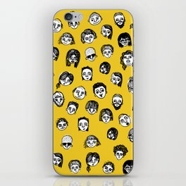 So Many People (Yellow) Pattern Print iPhone Skin
