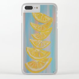 A Stack of Lemon Slices Clear iPhone Case