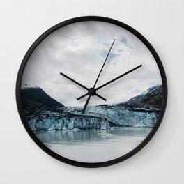 Blue Glacier Ice Wall Clock