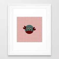 crab Framed Art Prints featuring Crab by Mr & Mrs Quirynen