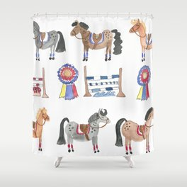 Jumper Ponies Shower Curtain