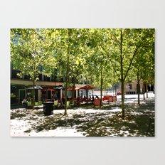 Street Cafes Canvas Print