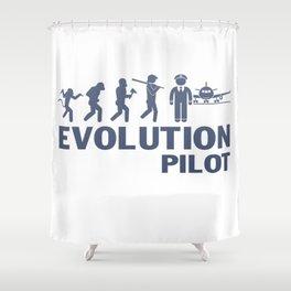 Evolution - Pilot Shower Curtain