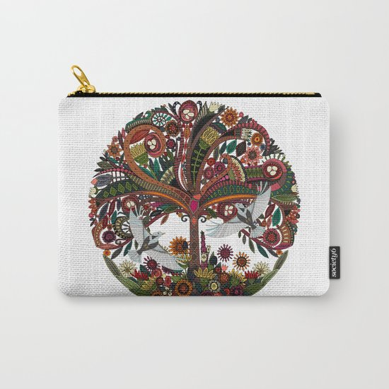 tree of life white Carry-All Pouch
