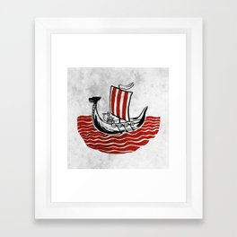 Lone Viking Framed Art Print