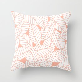 Leaves in Creamsicle Throw Pillow