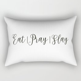 Eat Pray Slay Rectangular Pillow