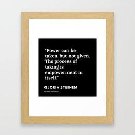52   | Gloria Steinem Quotes | 191202 Framed Art Print