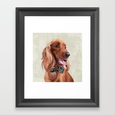 Mr. English Cocker Spaniel Framed Art Print
